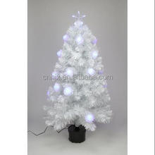4ft Musical Battery Operation Fiber Optic Christmas Tree White Led
