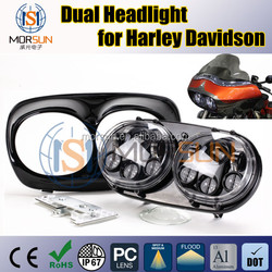 road glide motorcycle led projector headlight, off road motorcycle headlight