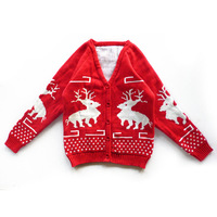 China Online Selling Boys Knitted Cardigan Sweater Pattern Child Christmas Sweater
