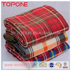Plaid 100 polyester colorful England style 2015 knit blanket