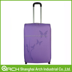 Hot sale girl's travel trolley luggage /butterfly print/ carry-on suitcase