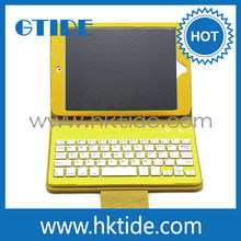 Waterproof Detachable Bluetooth Leather Keyboard Case For Tablet PC