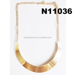 women artificial gold long chain imitation bib necklace
