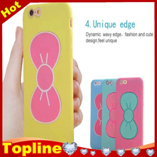 Popular fashion style 5.5 inch lip pink silicone phone case for iphone