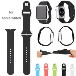 Popular products for Apple watch band original sports silicon straps with adapter