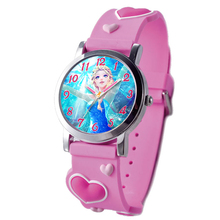 2015 audit factory retail product high quality silicone band 3D frozen watch