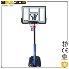 plastic adjustable basketball hoop post