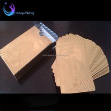 custom gold foil JPY/RMB/USD playing card