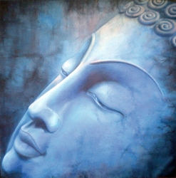 abstract canvas painting designs of modern buddha oil painting