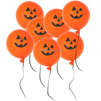 20Pc Halloween Pure Latex Smiling Face Orange Printed Pumpkin Pattern Balloons Party Decoration Toys