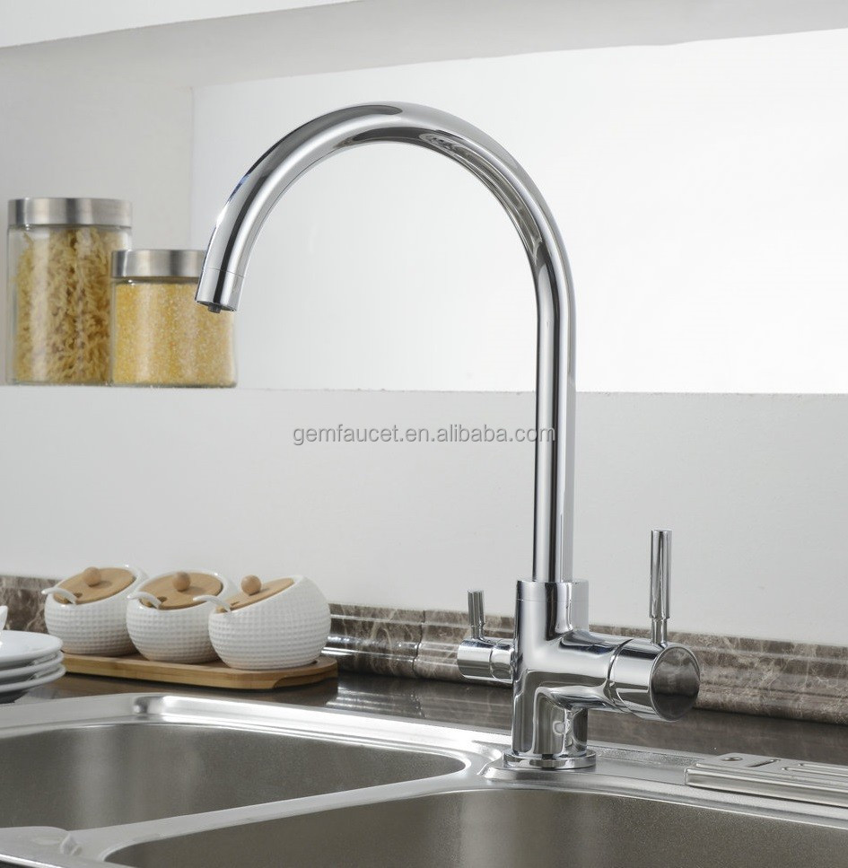 Double Handle 3 Way Kitchen Sink Faucet - Buy Sink Faucet,Kitchen Sink ...