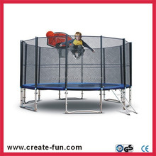CreateFun factory price 13ft large trampoline with baskebetball hoop