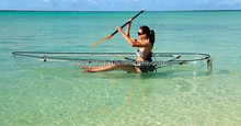 clear kayak/canoe/plastic boat made of Poly Carbonate for 2 passengers