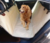 luxury beige cotton padded Dog Seat Cover car back seat protector with the Best Nonslip Rubber Backing