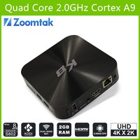 Free Full HD 1080P Porn Video Android TV Box Zoomtak K8 Android TV Box Amlogic S802 OTA Updater Free Japanese Sexy Video 4K 3D