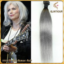 Fashionable hot selling gray Brazilian hair weave, free weave hair packs