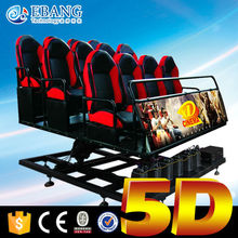 Most advanced equipment 5d theater with leg sweep, back push, seat vibration