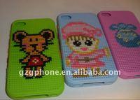 2011 New design DIY Cross stitch tpu phone case for Iphone4