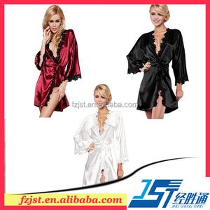 Robe renda Europa e os Estados Unidos para aumentar o tamanho de uma variedade de roupões de banho atam o vestido de noite de se