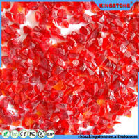 High quality deep red building glass dome,opaque glass for terrazzo