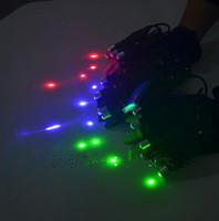 Laser Man Show Used Laser Parts, Laser Gloves