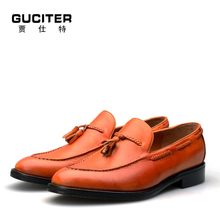 Customized header layer mens shoes Breathable leather brands Customized header layer mens shoes manually change color