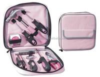 19pcs pink tool set for women purple tool kit ladies diy tool kit with bag