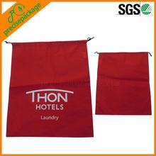 high quality cheap nylon small drawstring washable laundry bag