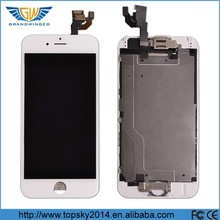 With back cover housing full assembly transparent lcd digitizer and touch screen for iphone 6