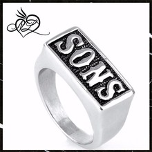 Super Quality Sons Ring Sons Stainless Steel Unique Punk Ring Jewelry Man Fashion