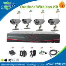 2015 HOT New 4CH NVR Kit Home Security CCTV Camera kit h.264 4ch nvr 720p ip nvr kit with bullet wifi IP cameras
