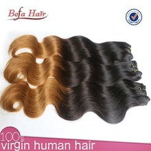 wet and wavy ombre colored indian human hair weave,kanekalon yaki braiding hair,cheap x-pression braid hair wholesale