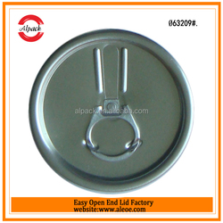 Having good sealing aluminium composite lid cover for can for cheese