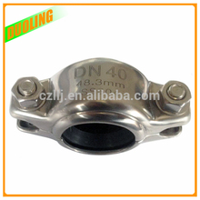 """Cheap price 2.5"""" DN65 73mm pipe clamp joints for grooved pipe use punching molding"""