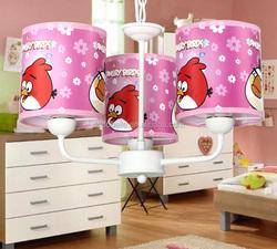 Cartoon tweet bird kids iron toy pendant lamp round chandelier zhong shan manufacturers led