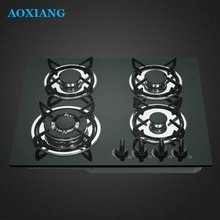 Built-in Tempered Glass Kitchen 4 Burner Gas Cooking Rang / Gas Hob/ Gas Cooker XLX-614G-1