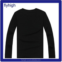 high quality promotion price long sleeves black t shirts