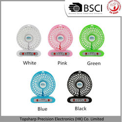 Hot mini portable USB fan with LED light for children