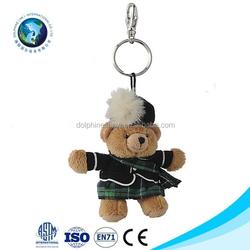 Customs stuffed toy plush keychain teddy bear for promotion gift popular cheap plush teddy bear keychain