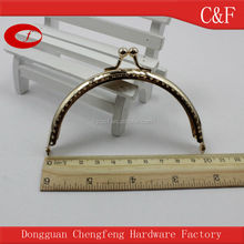 10 cm Gold color Metal screw purse frame bag frame handle clip bag hanger