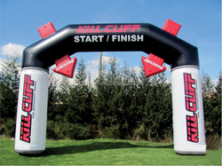 Well finished outdoor event inflatable arch, Advertising inflatable arch for event