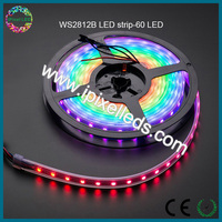 high lumen magic digital dream color 5v 10mm wide rgb led strip ws2812b 60pixel