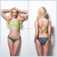 TQSKK new arrival hot selling fashion show girls stripe bikini