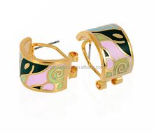 bali costume hoop enamel cuff earrings joyeria jewelry supplier