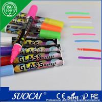 8 Colors Unique Reversible wipe uv resistant permanent marker pen