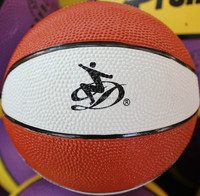 brown and white size 1 rubber mini basketball