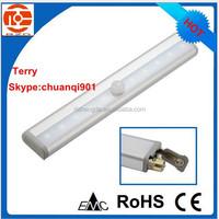 4*AAA battery operated led PIR sensor cabinet light
