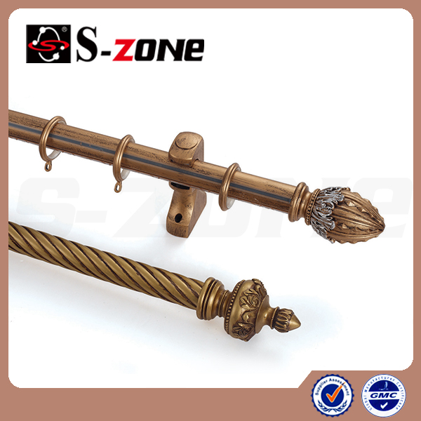 High Quality Double Wooden Curtain Rod With Various Colors Buy Wooden Curtain Rod Double
