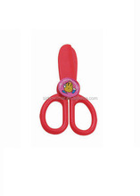 2015 new design item plastic handle scissor for kids