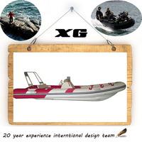 CE Cando 420cm Hypalon/PVC inflatable fiberglass hull catamaran
